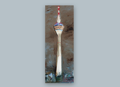 Heimat-Gefühl 2011 (60 x 160 cm, Öl auf Leinwand, gerahmt)