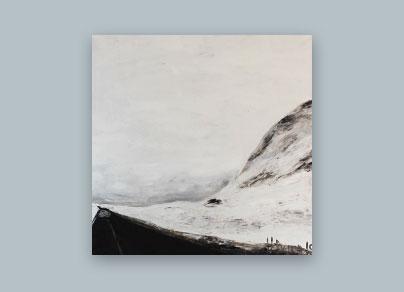 Schneelandschaft 2015 (100 x 100 cm, Öl auf Leinwand, gerahmt)