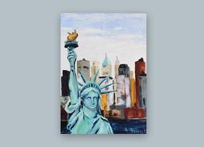 Freiheitsstatue 2015 )(110 x 90 cm, Öl auf Leinwand, gerahmt)