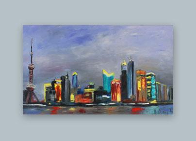 Shanghai 2015 (140 x 80 cm, Öl auf Leinwand)