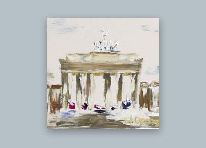 Berlin Skizze I 2015 (40 x 30 cm, Öl auf Leinwand)