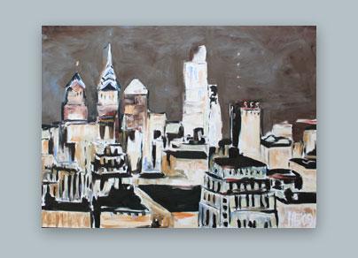 Philadelphia Ausblick - 2009 (150 x 120 cm, Öl auf Leinwand)