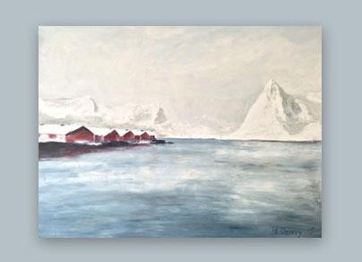Fjord 2015 (160 x 120 cm, Öl auf Leinwand)