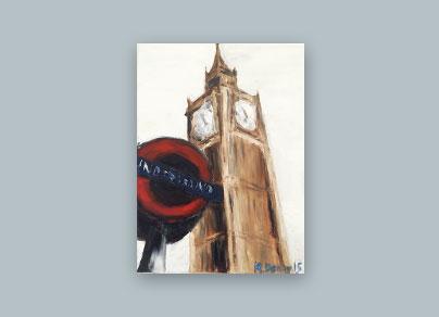 Underground London 2015 (30 x 40 cm, Öl auf Leinwand)