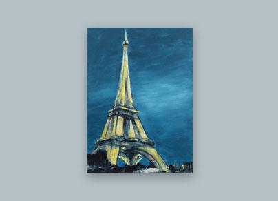 Eiffelturm bei Nacht 2015 (60 x 80 cm, Öl auf Leinwand)