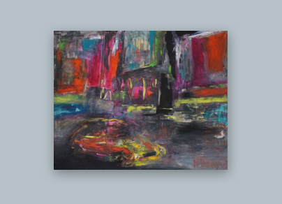 Farben von NYC 2015 (Öl auf Leinwand, 160 x 120 cm)