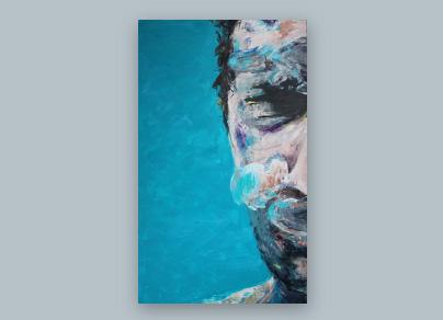 Sommer 2015 (Öl auf Leinwand, 70 x 140 cm)