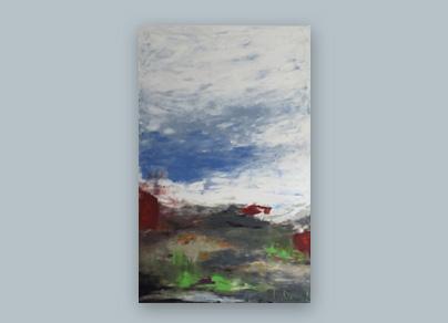 Farben von Värderoarna 2015 (Öl auf Leinwand, 80 x 140 cm)